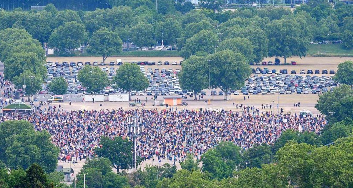 Demonstration in Stuttgart  | Foto: Sebastian Gollnow (dpa)