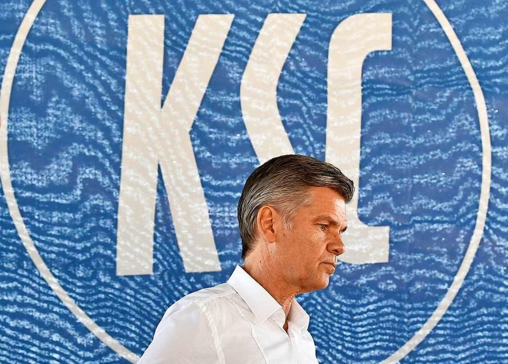 Ingo Wellenreuther ist als Präsident des KSC zurückgetreten.    Foto: Thomas Kienzle (dpa)