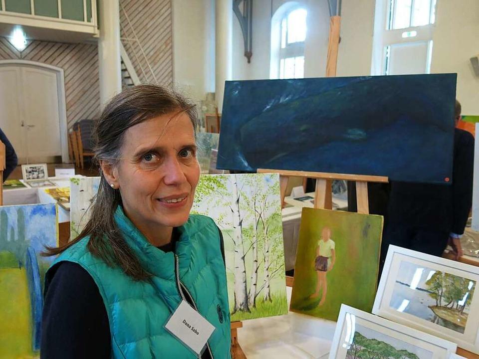 Dana Heike Sabo aus Freiburg auch bei ...llen Frühjahrsausstellung der Artothek  | Foto: Georg Voß