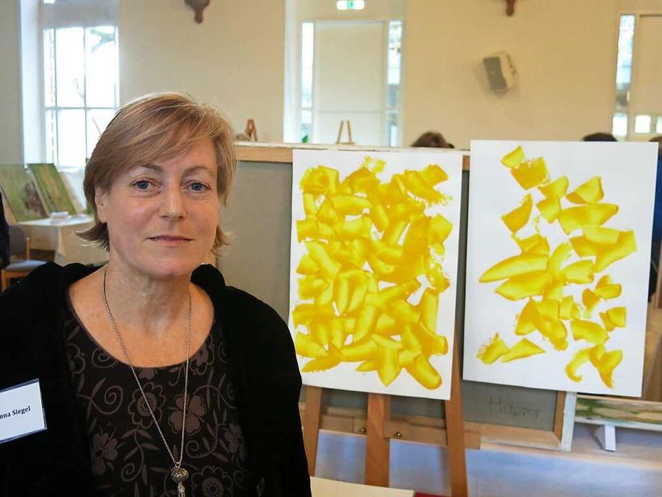 Johanna Siegel aus Freiburg auch bei d...llen Frühjahrsausstellung der Artothek  | Foto: Georg Voß