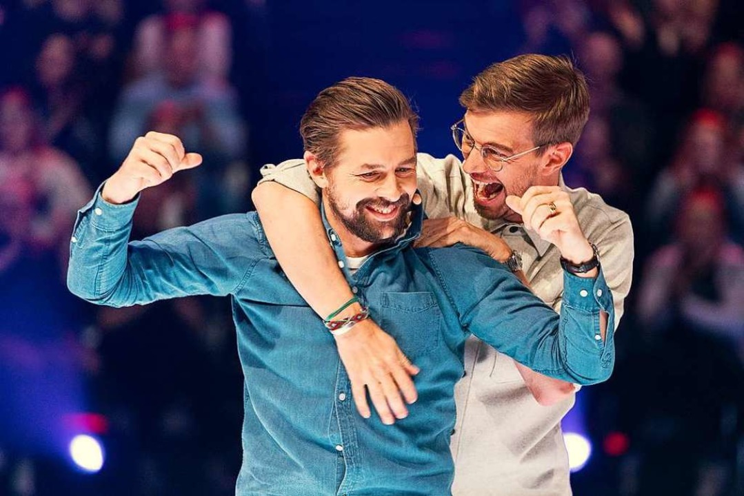 Klaas Heufer-Umlauf (links) und Joko Winterscheidt.  | Foto: ProSieben, Jens Hartmann (dpa)