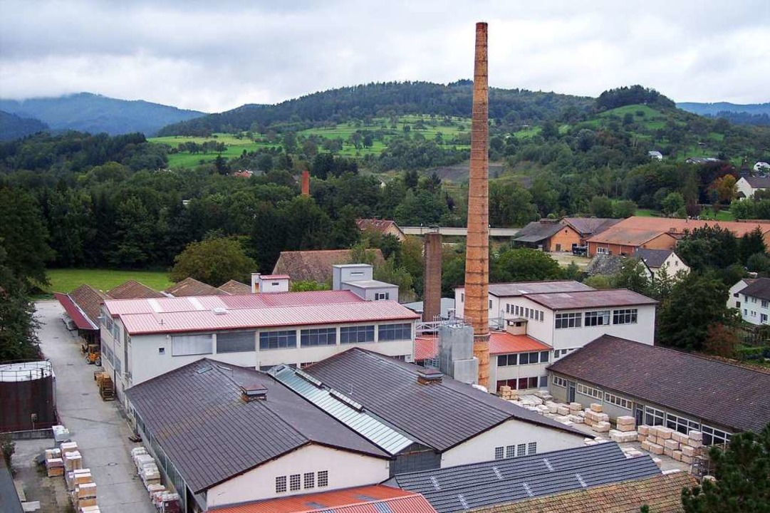 Ein geschichtsträchtiger Betrieb: Das Gelände der Firma Kandern Feuerfest    Foto: die Kandern Feuerfest GmbH