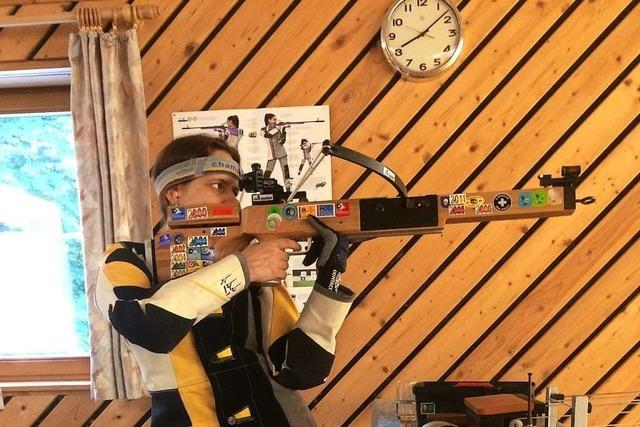 Sportschützin Christina Henninger lernt, die Technik zu schätzen