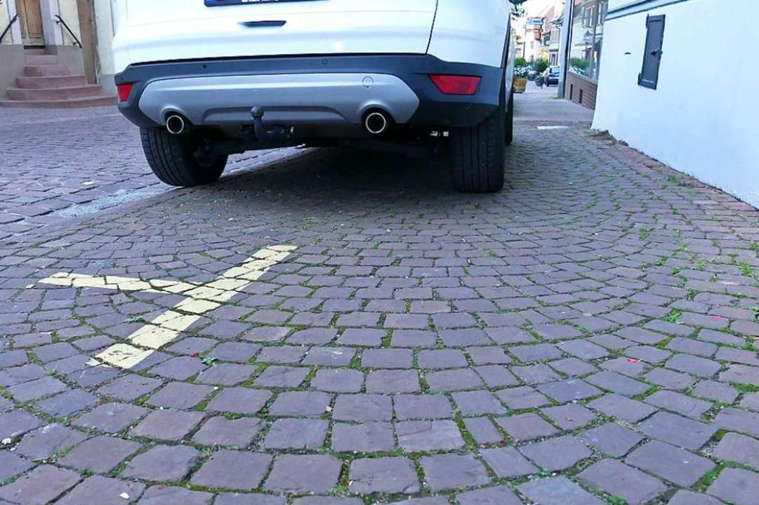 Parken Außerhalb Markierung