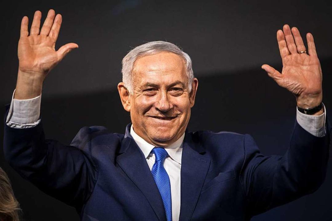 Er darf wieder triumphieren: Benjamin Netanjahu  | Foto: Oliver Weiken