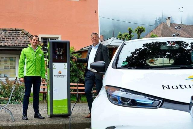 Die Sulzburger können jetzt am Marktplatz Strom tanken