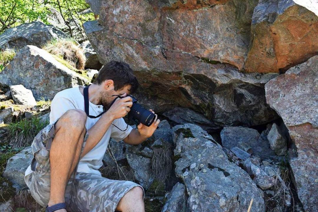Michel Grün hat sich schon früh für de...esetzt, die er mit der Kamera sammelt.  | Foto: Yannick Allgeier