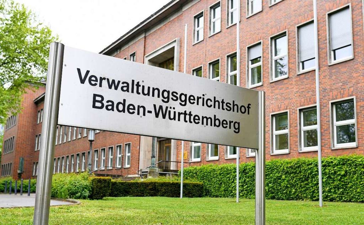 Der Verwaltungsgerichtshof in Mannheim  | Foto: Uwe Anspach (dpa)