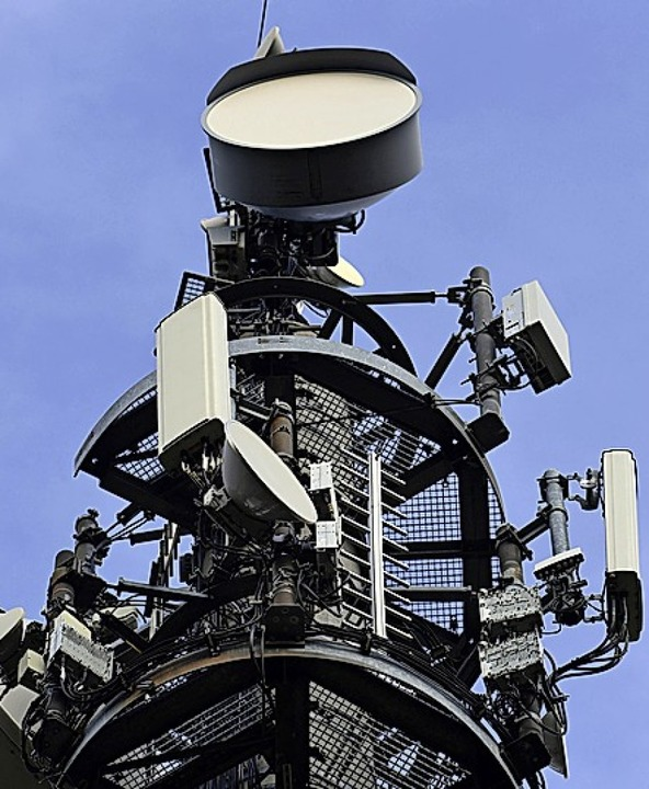 So sehen 5G-Anlagen aus.  | Foto: Soeren Stache (dpa)
