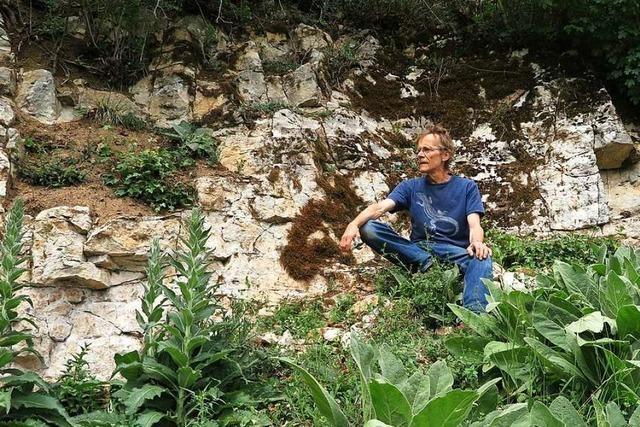 Naturfreund Frank Mehlin hat bei Niedereggenen ein Biotop freigelegt