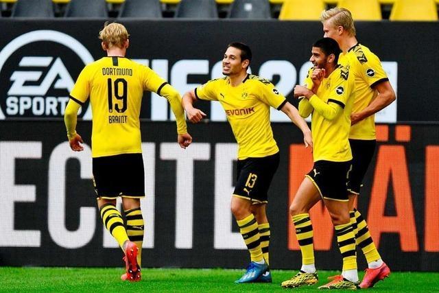 Borussia Dortmund nimmt beim Bundesliga-Neustart Schalke 04 mit 4:0 auseinander