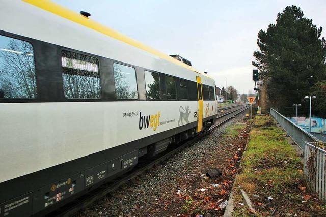 Der IRE-Verkehr liegt in Rheinfelden noch flach