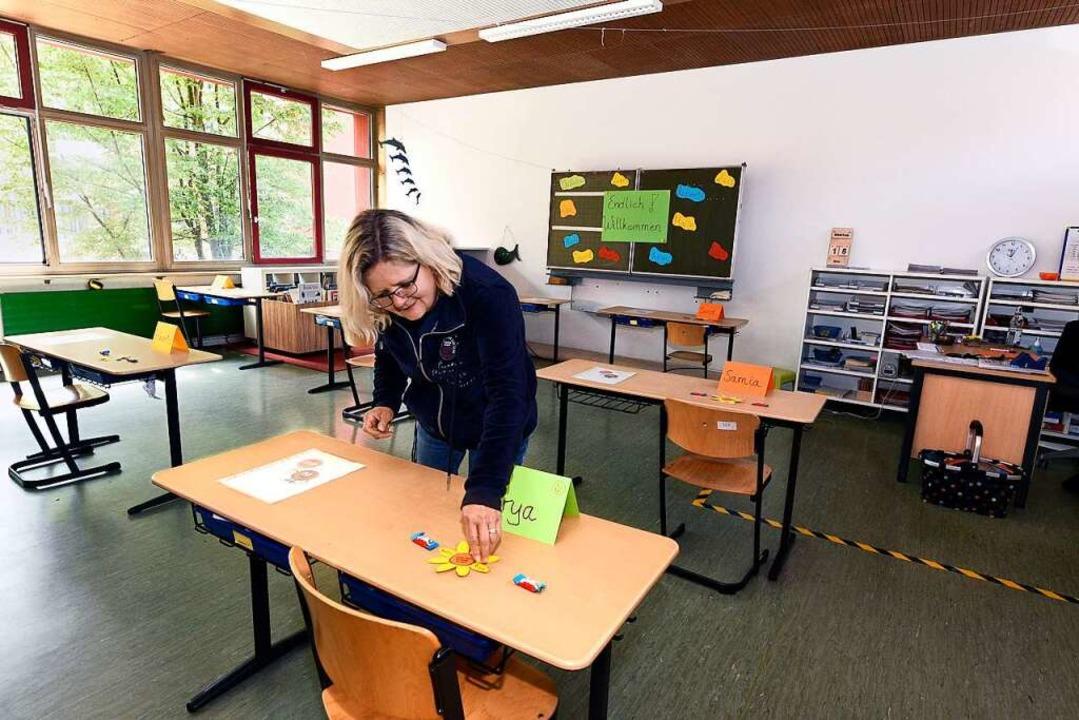 Die Paul-Hindemith-Schule am Seepark h...ab Montag wieder in die Schule kommen.  | Foto: Thomas Kunz
