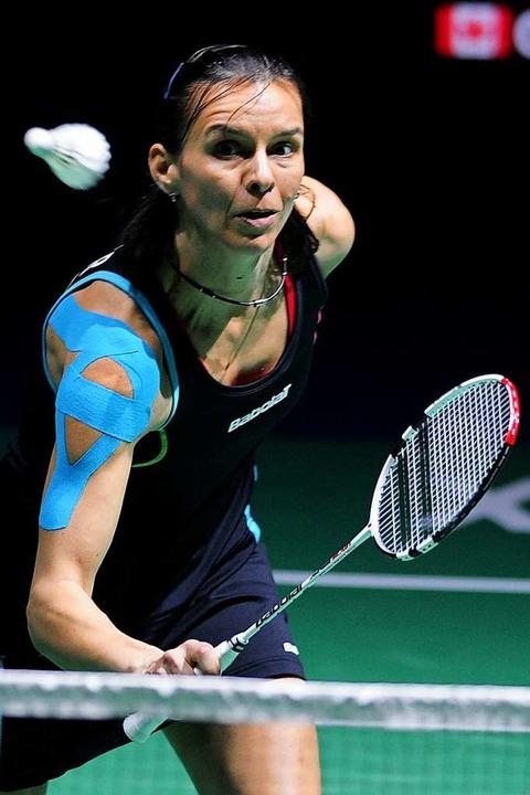 Badmintonspielerin Nicole Grether bei den Swiss Open in Basel 2012  | Foto: Meinrad Schön