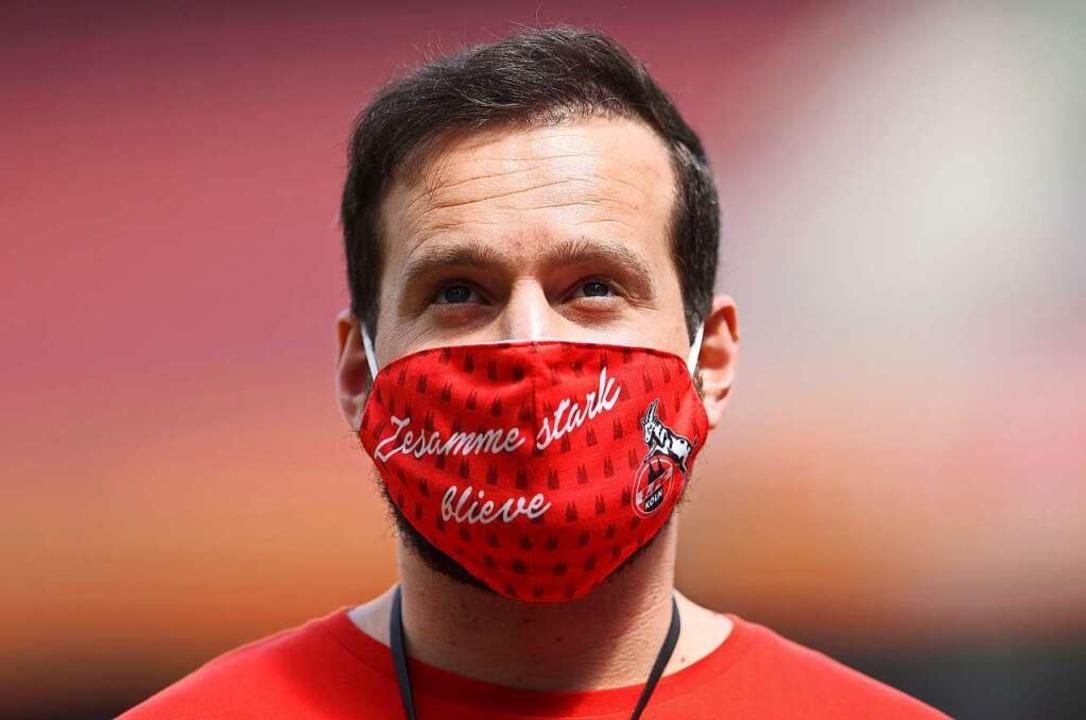 Auch beim Fußball wie hier beim Spiel ...gegen Mainz 05 werden Masken getragen.    Foto: LARS BARON (AFP)