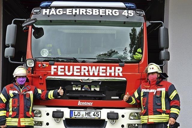 Handgenähter Schutz für Häg-Ehrsbergs Feuerwehr