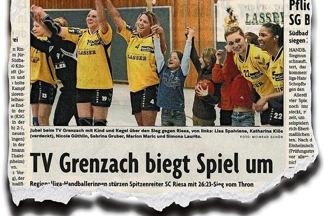 Aus dem Chaos in den Rausch: Als Grenzachs Handballerinnen den Drittliga-Primus stürzten