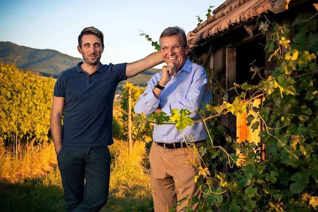 Fabrice Mack (hier mit Heinrich Mack) ... erst einmal nicht essen gehen wollen.    Foto: privat