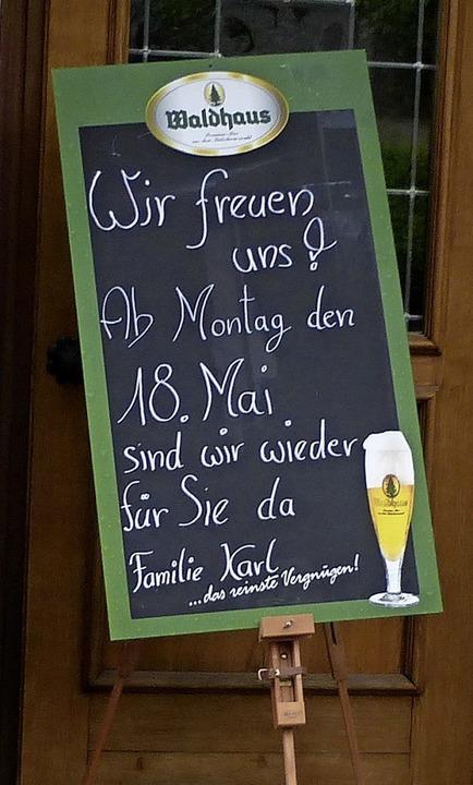 Die  Gaststätte Engel in Pfaffenweiler freut sich auf Gäste.  | Foto: Andrea Gallien