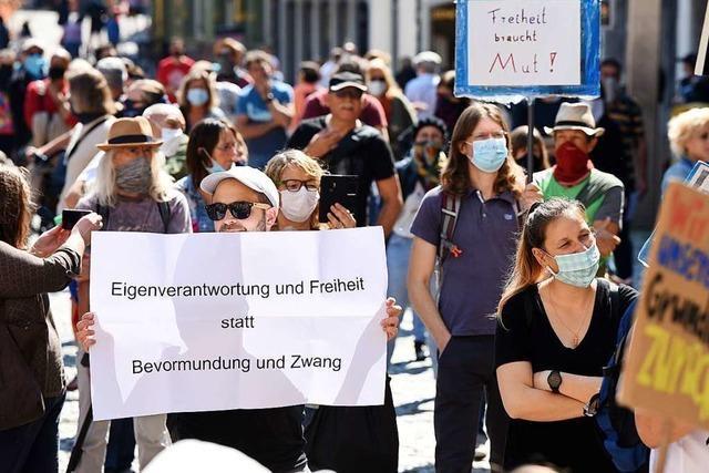 Protest in Freiburg will sich nicht von rechts unterwandern lassen