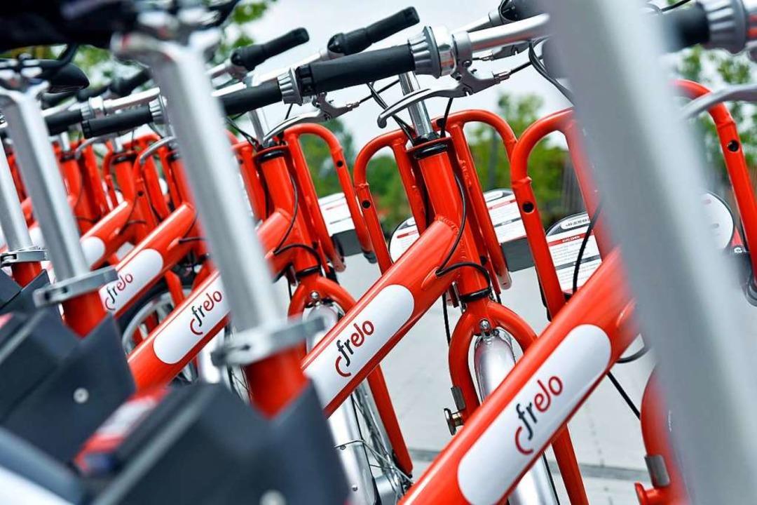 Die Frelo-Räder stehen nicht nur schön...dern sind oft in der Stadt unterwegs.   | Foto: Michael Bamberger