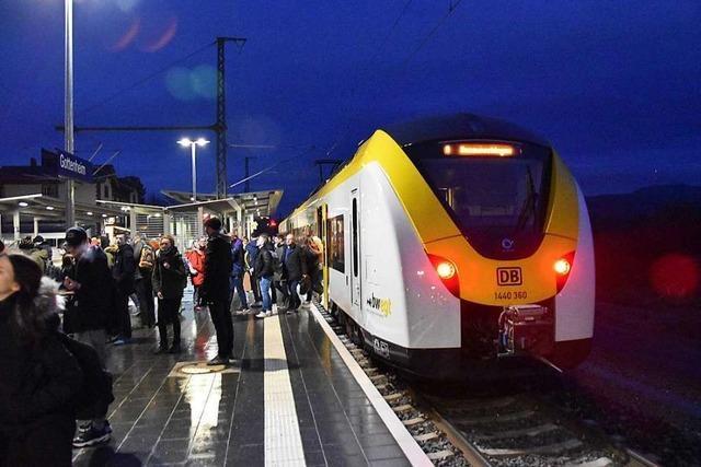 Passagiere der Breisgau-S-Bahn verpassen in Gottenheim oft den Anschluss