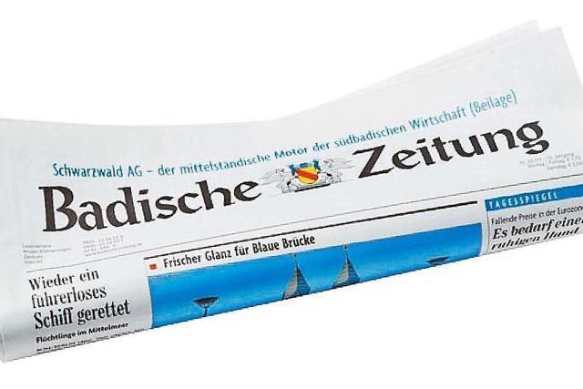 Die Badische Zeitung erscheint wieder mit mehr Ausgaben