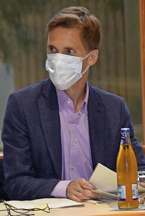 Bürgermeister mit Maske  | Foto: Andrea Steinhart