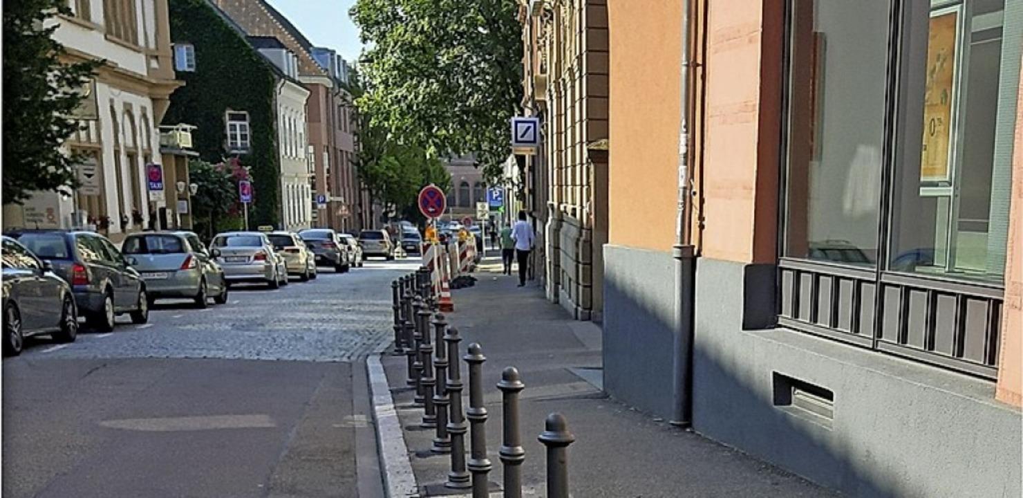 Poller in der Schillerstraße   | Foto: Stadt Lahr