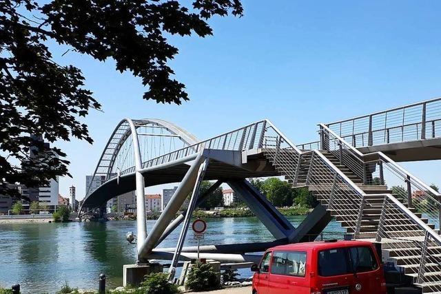 Die Dreiländerbrücke in Weil ist eine Sackgasse