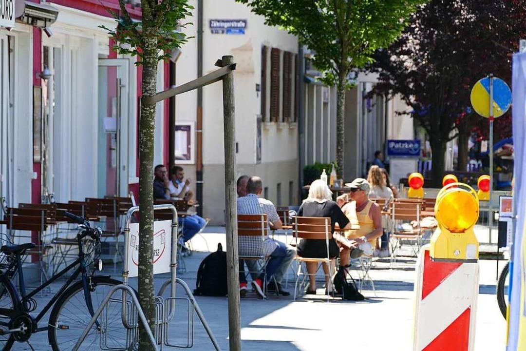 Außengastronomie in der Rheinfelder Innenstadt    Foto: Ralf H. Dorweiler