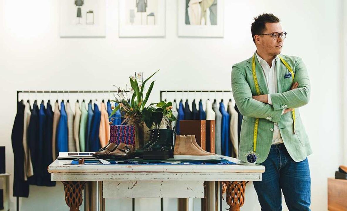 Marco Mesler kleidet Männer und Frauen mit Lust auf individuelle Mode ein.  | Foto: Felix Risch für Maßmacher