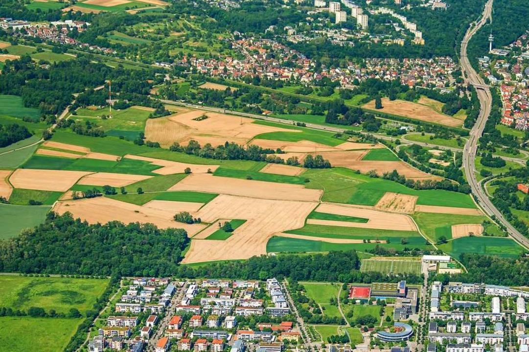 Bis der neue Stadtteil Dietenbach fert...ellt ist, dauert es noch (Archivbild).  | Foto: Nils Theurer