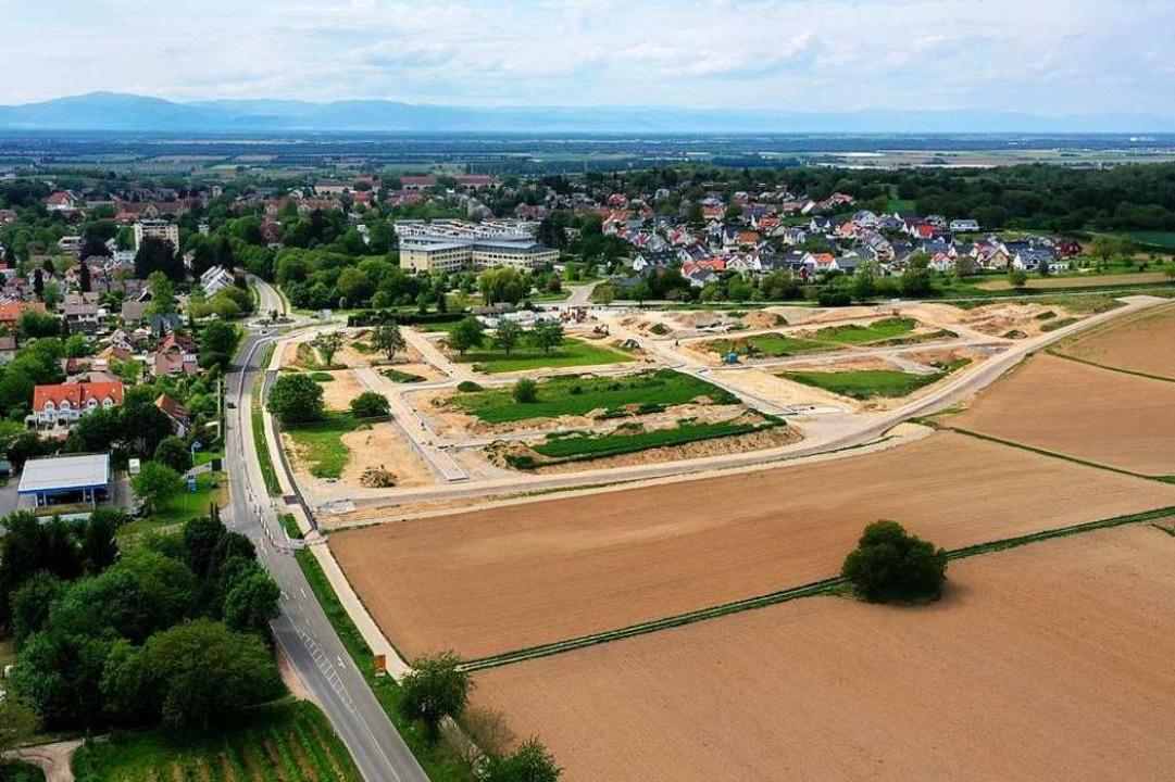 Historisch gesehen liegt das Neubaugeb...aber an die Bebauung der Kernstadt an.  | Foto: Matthias Weniger