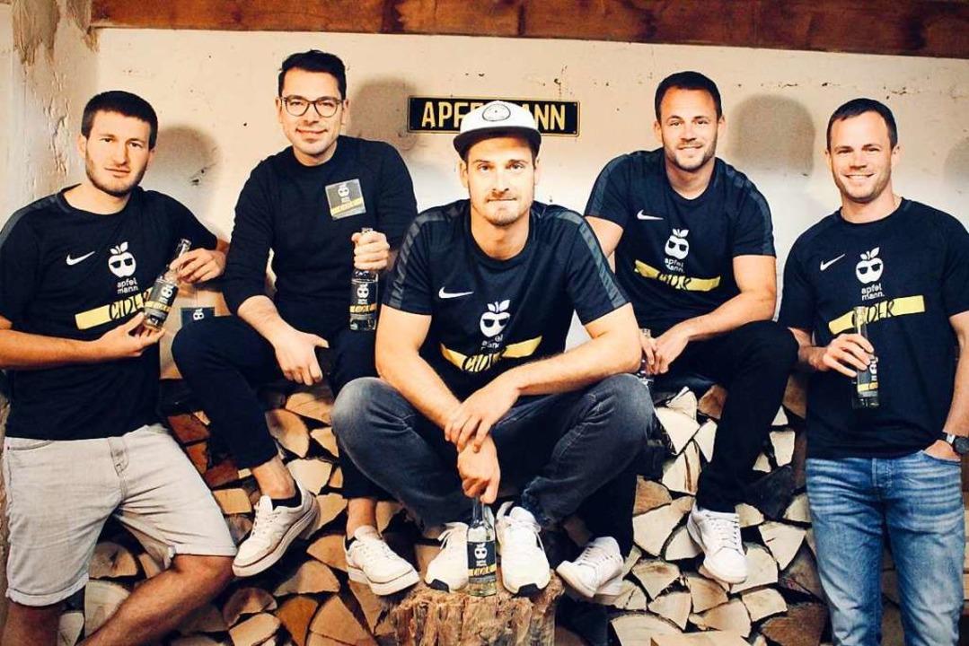 Das Apfelmann-Team: Marco Uhl, Timo Zi...d Dirk Winkler (von links nach rechts)    Foto: Apfelmann
