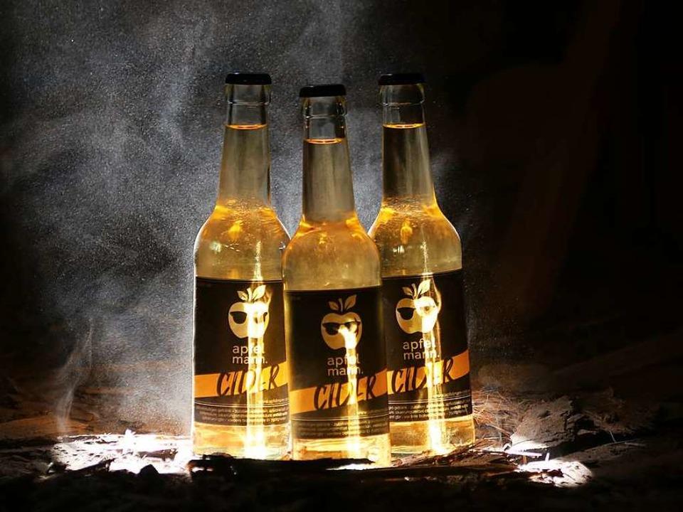 Der Cidre wird aus regionalen Äpfeln hergestellt...    Foto: Apfelmann
