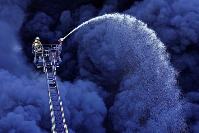 Einsatz in der Rauchwolke
