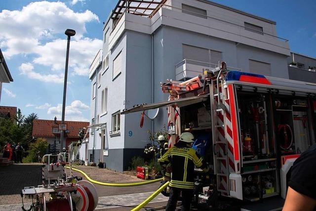 Schwelbrand an Wohnhaus in Müllheim endet glimpflich