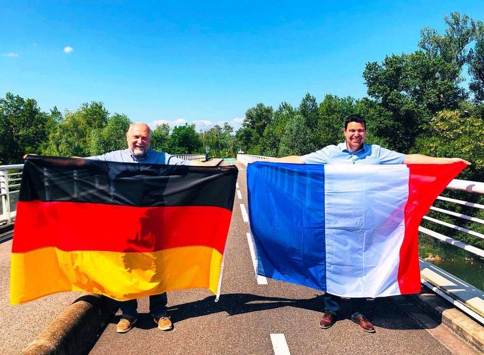 Deutsch-französische Freundschaft zele... Hartheimer Kollege Stefan  Ostermaier  | Foto: Privat