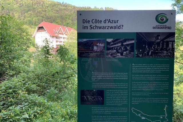 Der neue Entdeckerpfad in Glottertal führt auch an der Schwarzwaldklinik vorbei