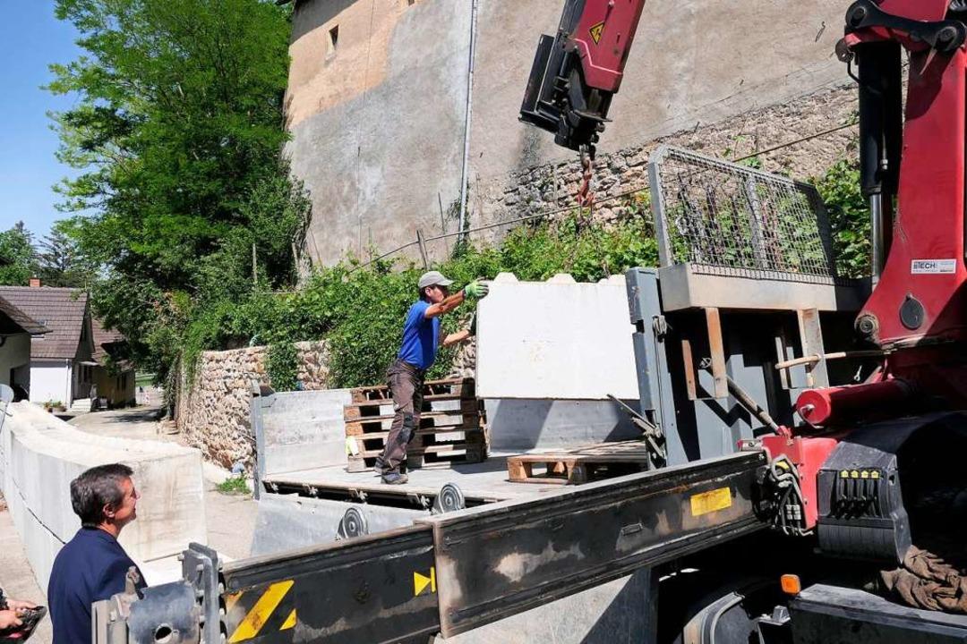 Beobachtet von Bad Krozingens Bürgerme...rz der Biengener Schlossmauer dienten.  | Foto: Hans-Peter Müller