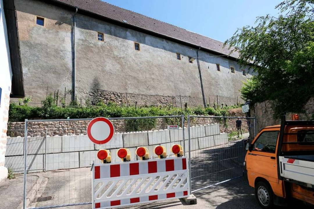 Das Bild bislang am Ende der Bachstraße  | Foto: Hans-Peter Müller