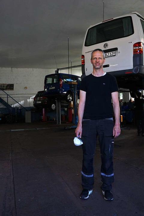 In der Kfz- und Fahrradwerkstatt von i...enweiler läuft das Geschäft wieder an.    Foto: Manuel Fritsch