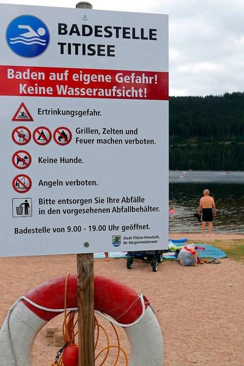 Auch die Badestelle Titisee soll bald wieder nutzbar sein.  | Foto: Wendelin Schnitzler