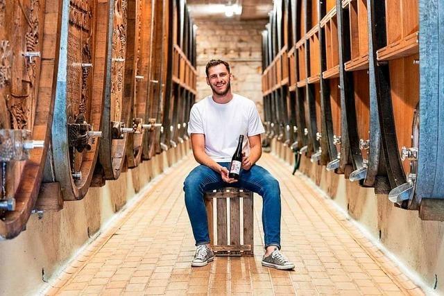 Eine Weingutslinie in der Winzergenossenschaft Oberrotweil