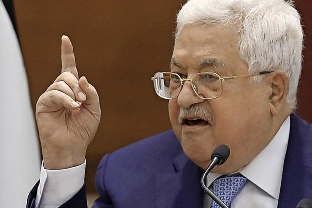 Palästinenser kündigen Sicherheitsabkommen auf