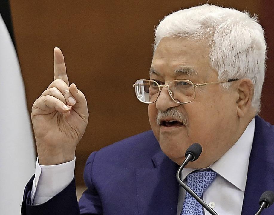 Palästinenserpräsident Mahmud Abbas  | Foto: ALAA BADARNEH