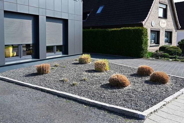 In diesem Wohngebiet in Grenzach-Wyhlen wird es keine Schottergärten geben