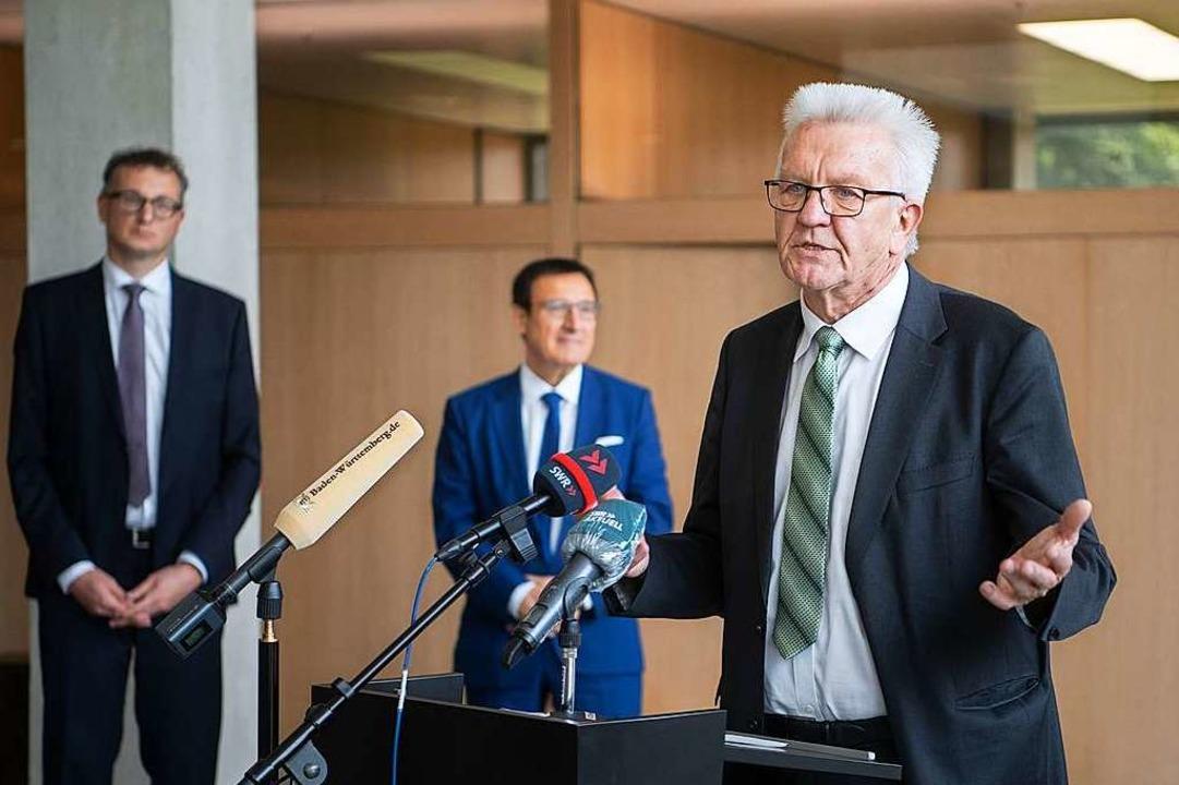 Winfried Kretschmann am Mittwoch im Landtag  | Foto: Marijan Murat (dpa)