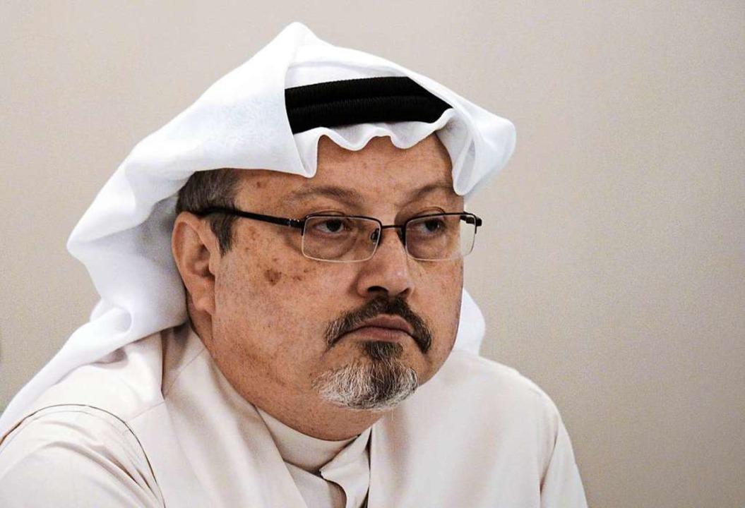 Jamal Khashoggi 2014. Im Oktober 2018 ...s 15 saudiarabischen Agenten ermordet.    Foto: MOHAMMED AL-SHAIKH (AFP)